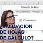 ¿Cómo se valida una hoja de cálculo?