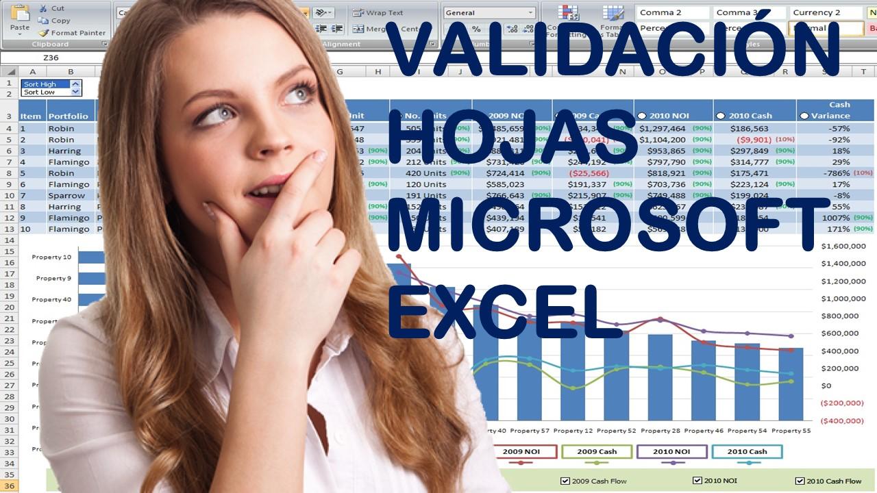 Validación hojas Microsoft Excel